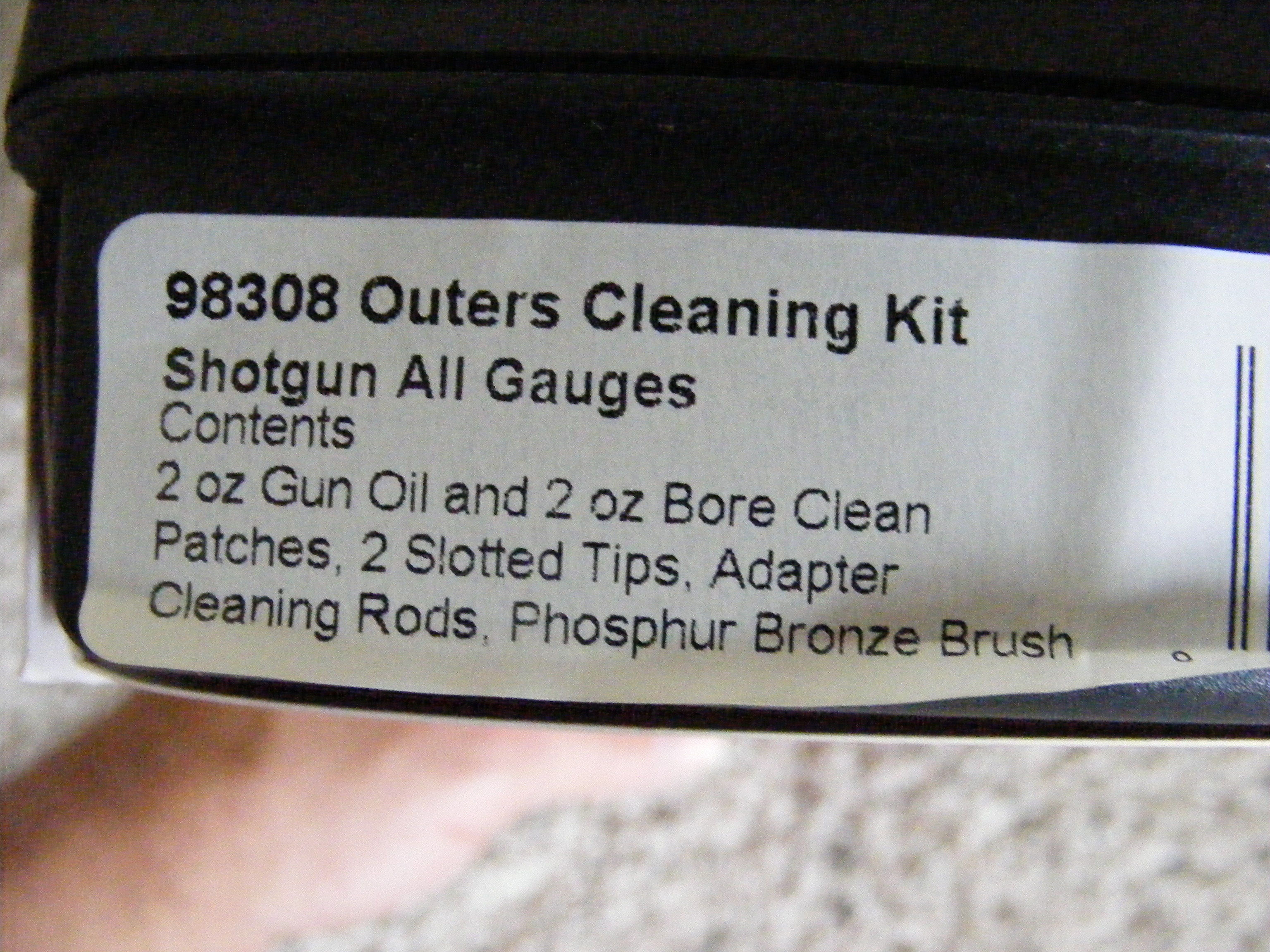 Outers Shotgun Cleaning Kit #98308 ALL GUAGES